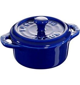 """Staub Mini Cocotte S/3 Blue 10cm/4"""""""