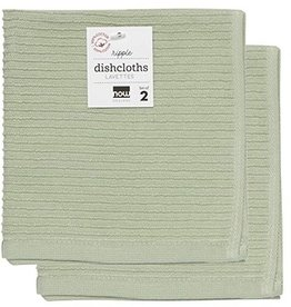 Now Designs Ripple Dishcloths - Sage S/2