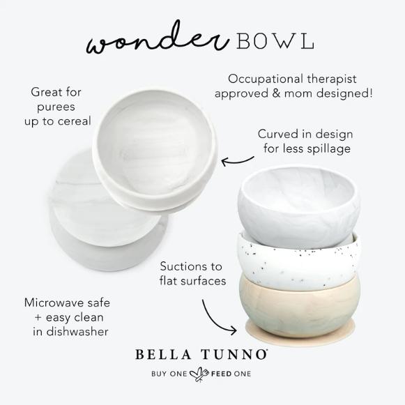 Bella Tunno Marble Suction Bowl