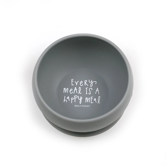 Bella Tunno Every Meal Is a Happy Meal Suction Bowl