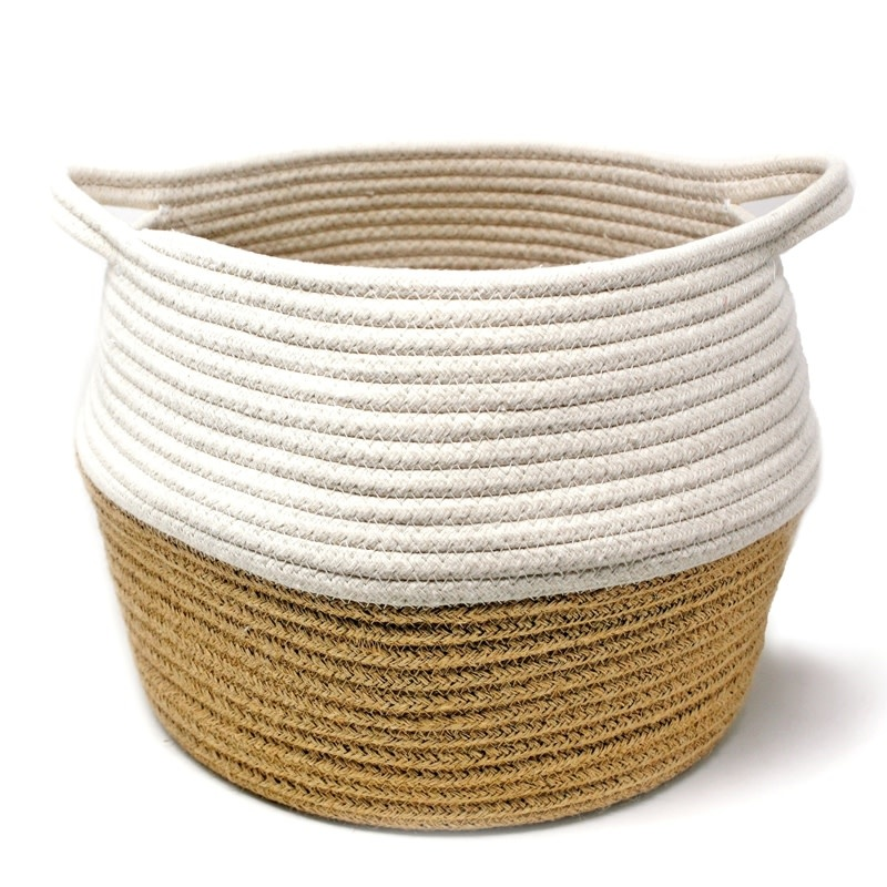 Danesco NL 2-Tone Belly Basket - White / Natural