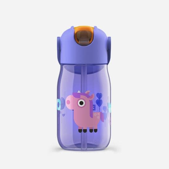 Kid Flip Straw - Purple - 400ml/14oz