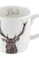 Wrendale Designs 'Dad' Mug (Stag)