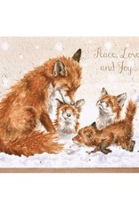 Wrendale Designs Peace Love And Joy - Card