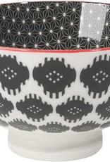 "Now Designs Bowl Stamped 4"" Black Ikat"