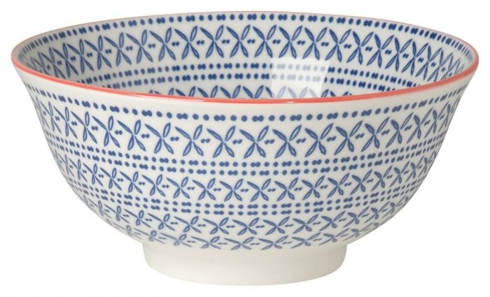 "Now Designs 6"" Stamped Bowl - Blue Cross"