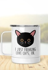 Pinetree Innovations Insulated Mug - I Freaking Like Cats