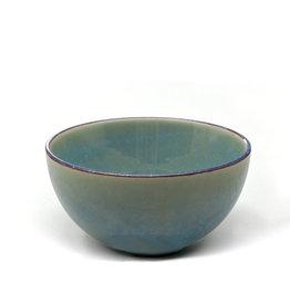 """5.75"""" Reactive Glazed Bowl  - Teal"""