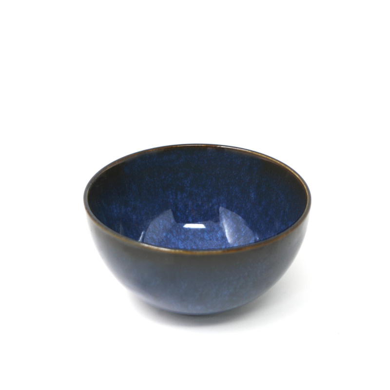 "Reactive Glazed Dip Bowl 11.5cm / 4.5"" - Navy Blue"