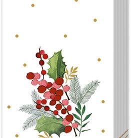Merry Christmas Cream Pocket Tissue