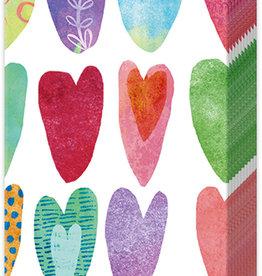 Rainbow Hearts - Pocket Tissues