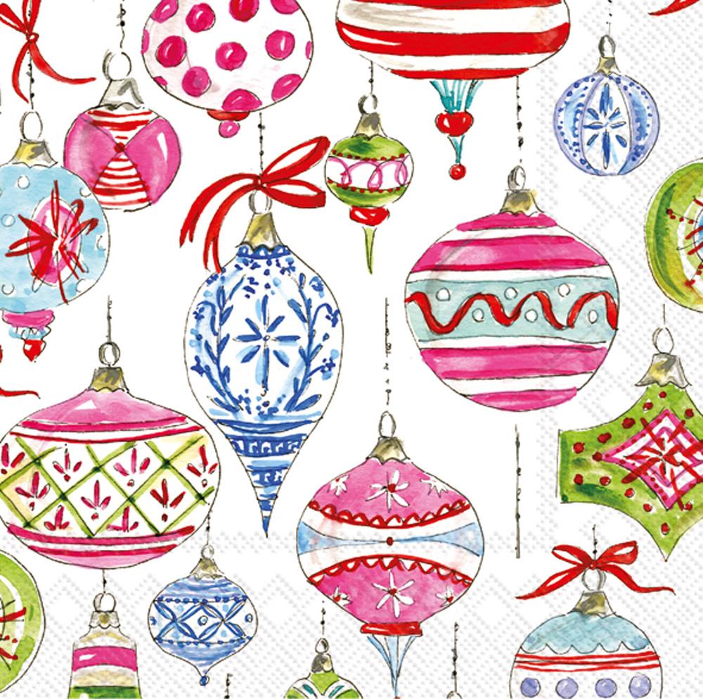 Merry Vintage Ornaments - Cocktail Napkins
