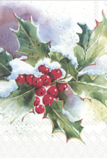 Winter Ilex- Luncheon Napkins