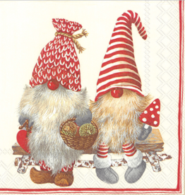 Friendly Tomte Red - Luncheon Napkins