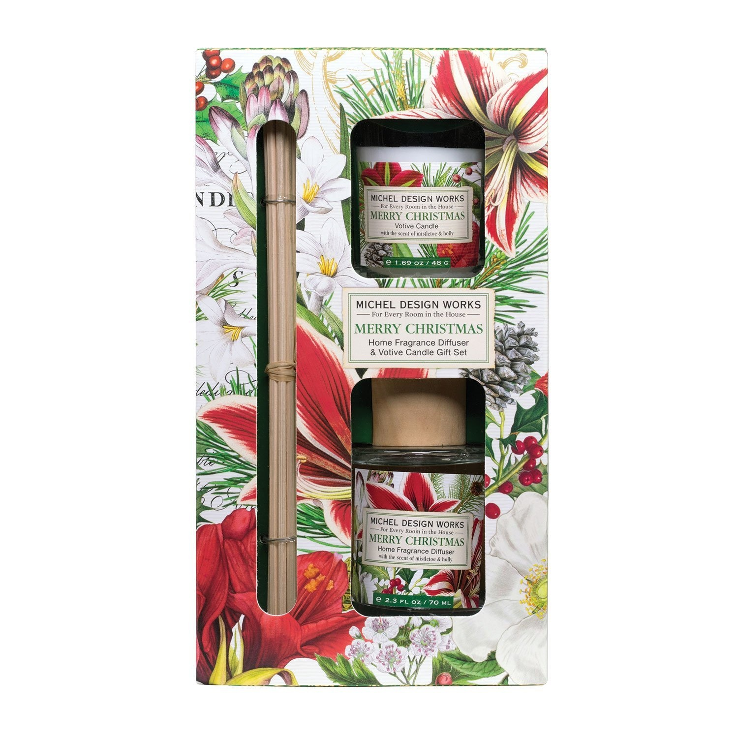 Merry Christmas - Diffuser & Votive Candle Set