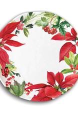 Poinsettia Dinner Plate - Melamine Serveware