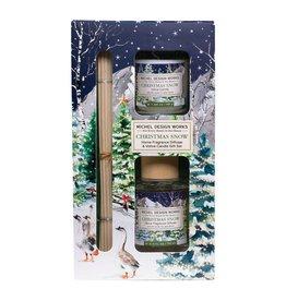 Christmas Snow Diffuser & Votive Candle Set