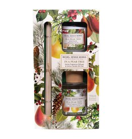 In a Pear Tree Diffuser & Votive Candle Set