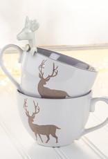 White Reindeer Hanging Spoon