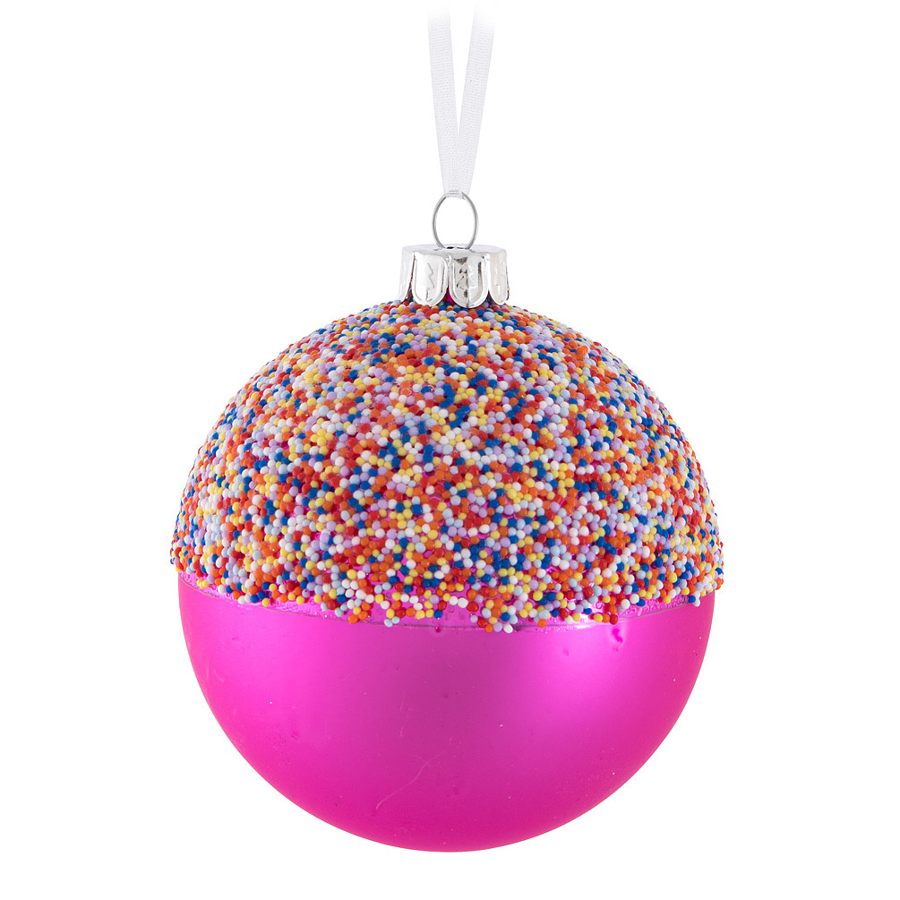 Pink Sprinkles Ball Ornament