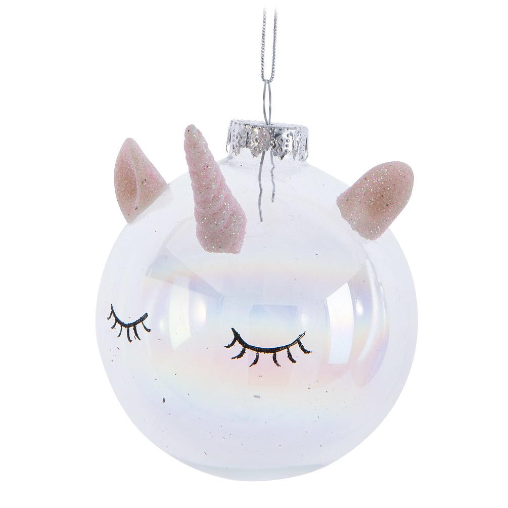 Unicorn Head Ball Ornament