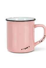 Enamel Look Mug - Pink