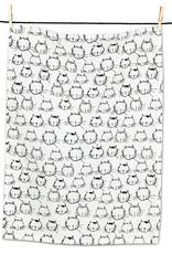 Funny Cat Faces Tea Towel