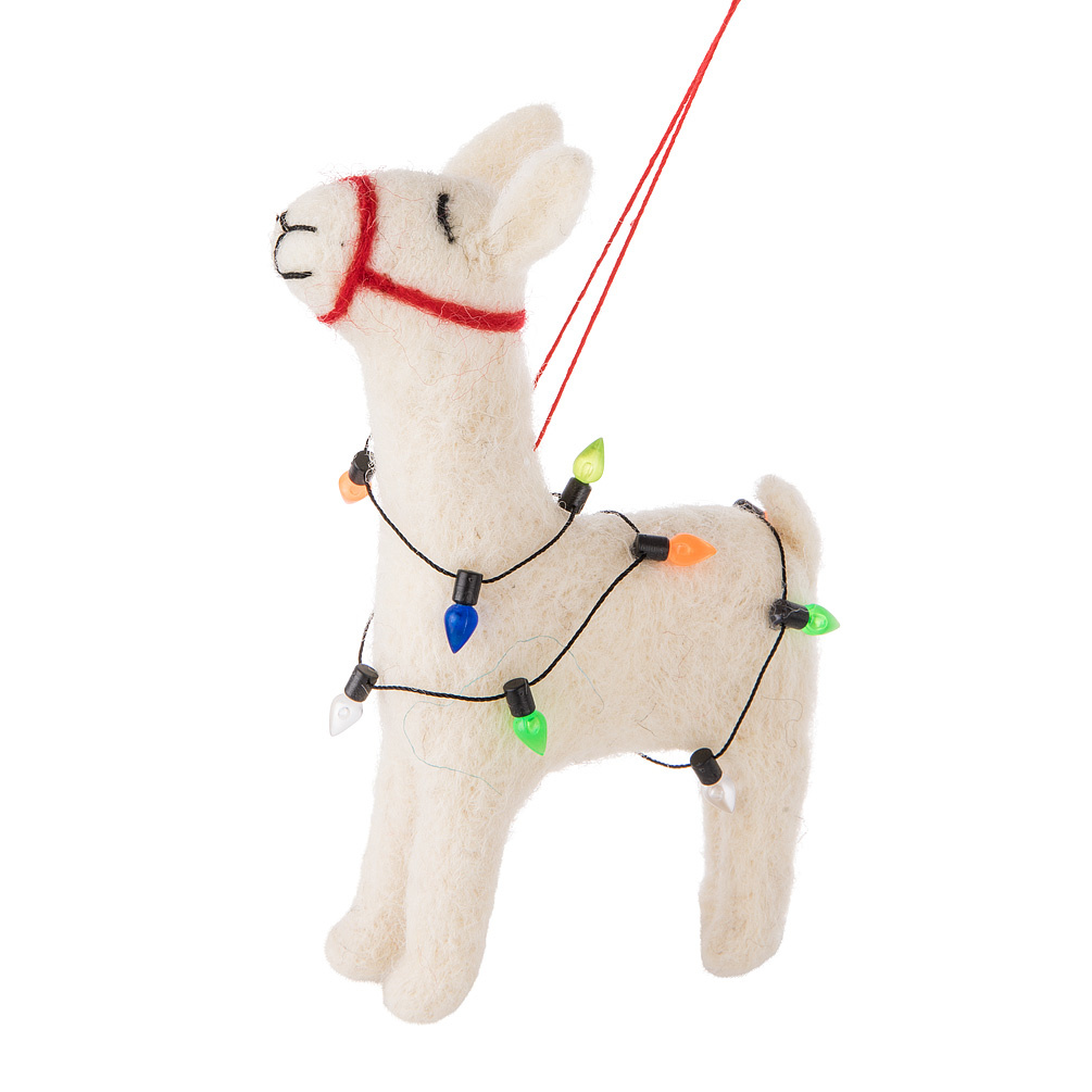 Llama with Lights Ornament