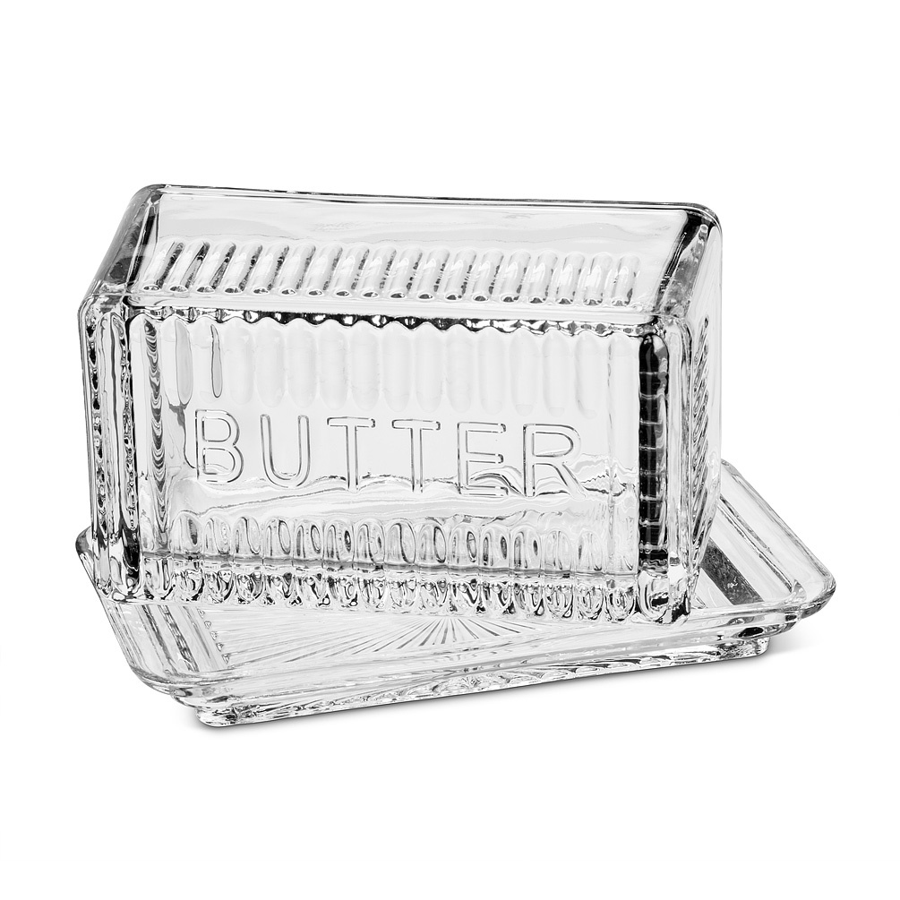 Large Covered Butter Dish