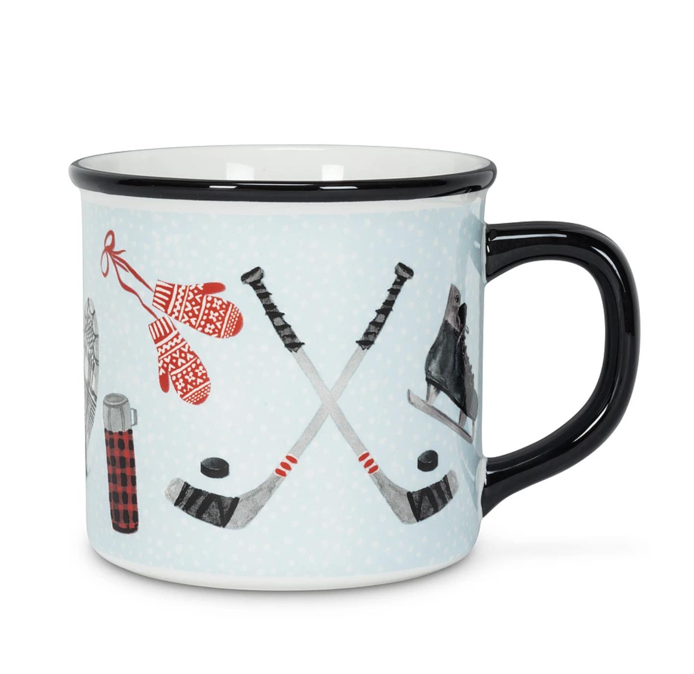 Blue Winter Icons Mug