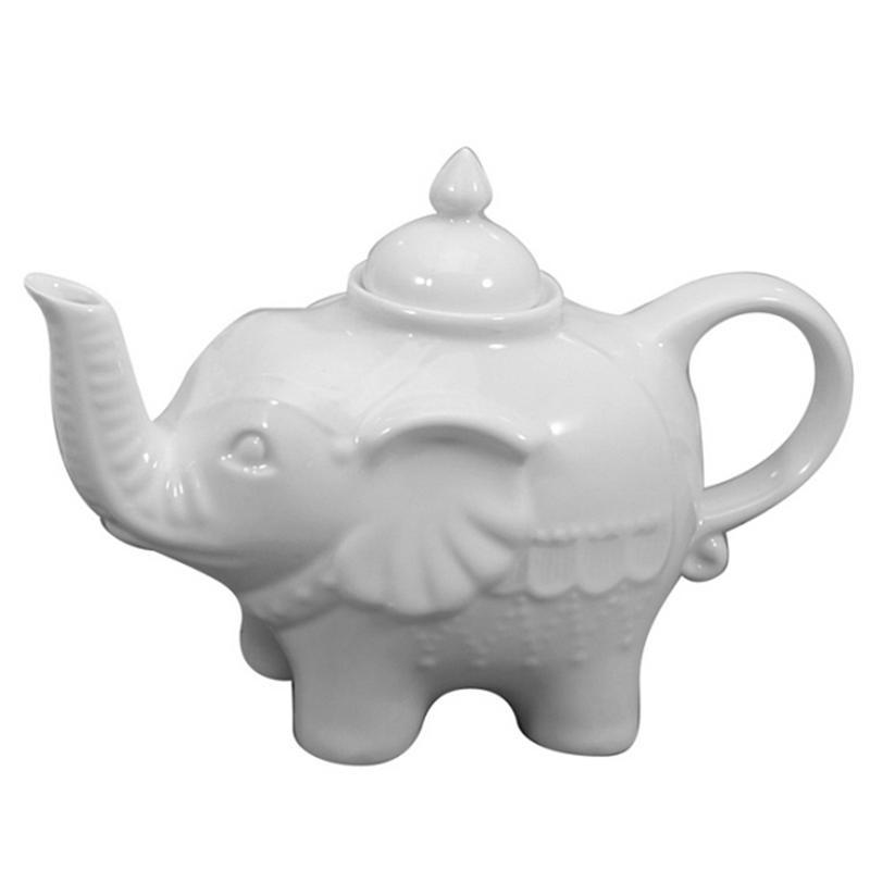 Elephant Teapot - White