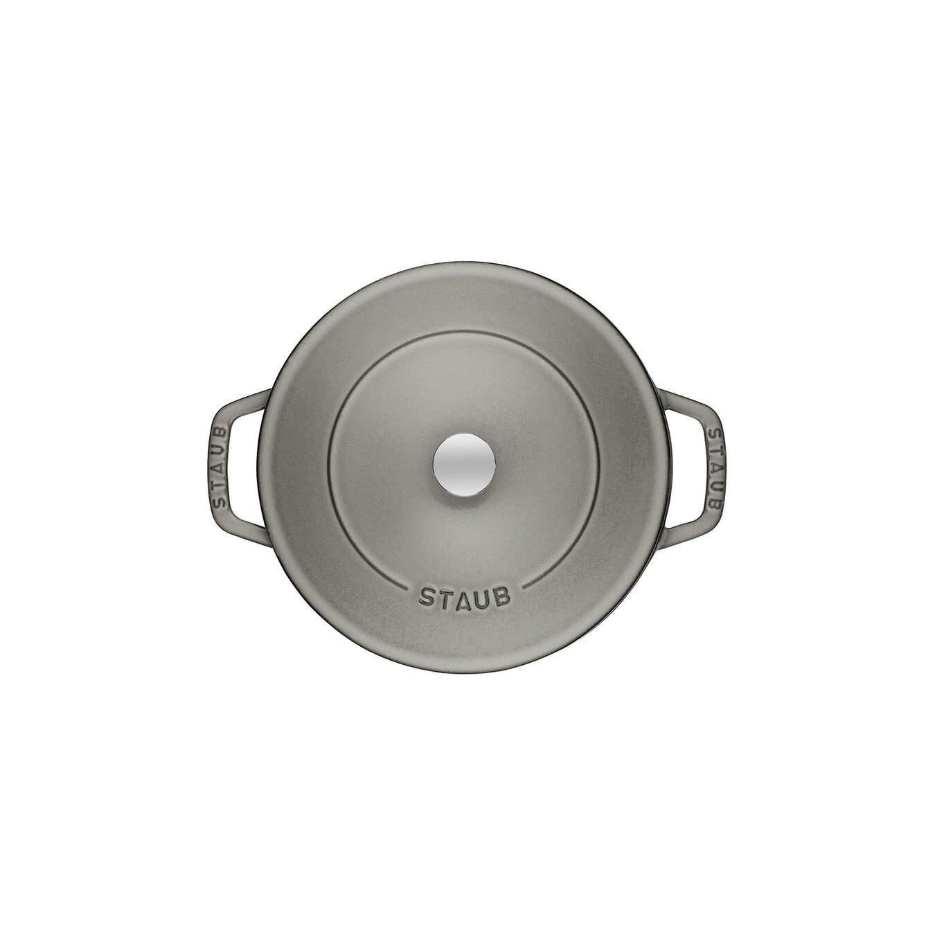 Staub 4qt Chistera Braiser - Grey 3.8L 28cm Base