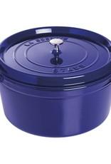 Staub Round Cocotte 8.3L/8.8qt Blue