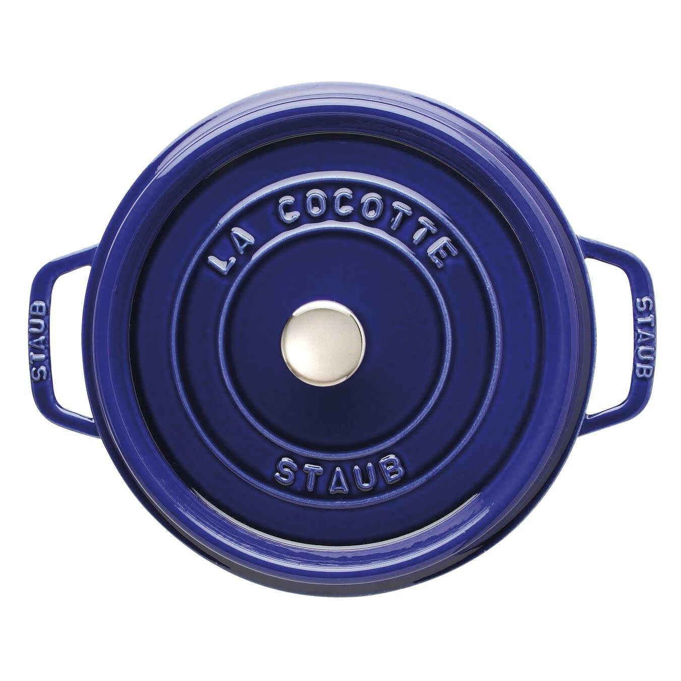 Staub 3.8L / 4qt Cast Iron Round Cocotte - Blue