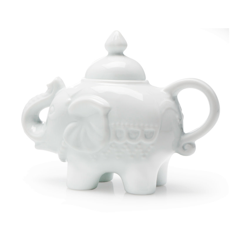 BIA Elephant Covered Sugar Pot - White