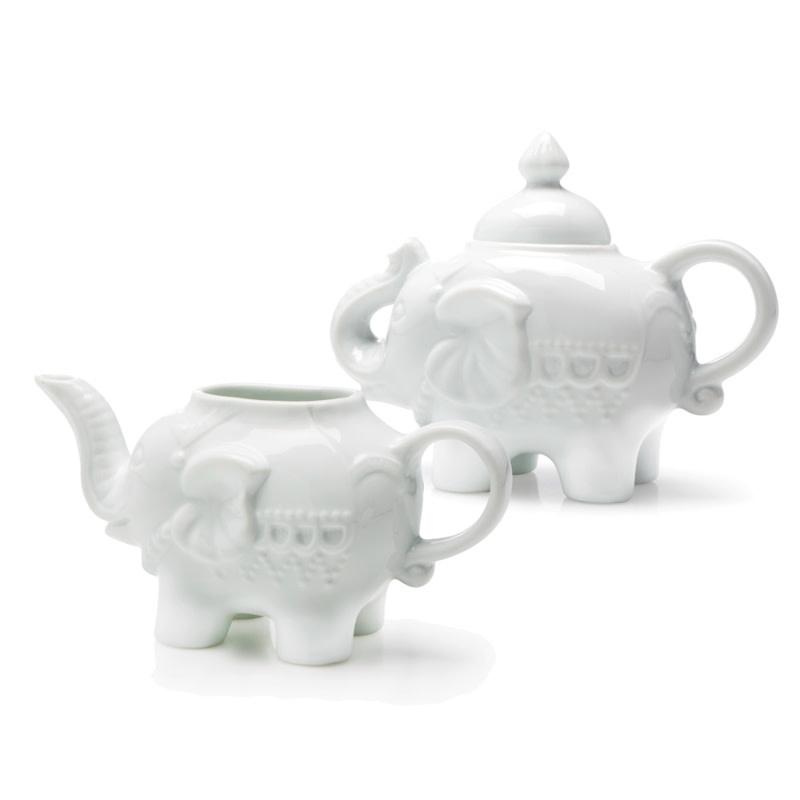 Danesco BIA Elephant Creamer - White