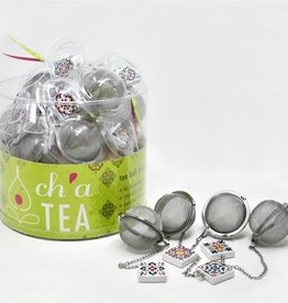 Danesco CH'A Tea Ball with Tile Charm
