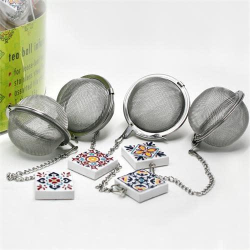 Danesco CH'A Tea Ball with Tile Charm
