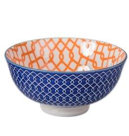 """Danesco Link Bowl 4.75""""/11oz - Orange/Blue"""