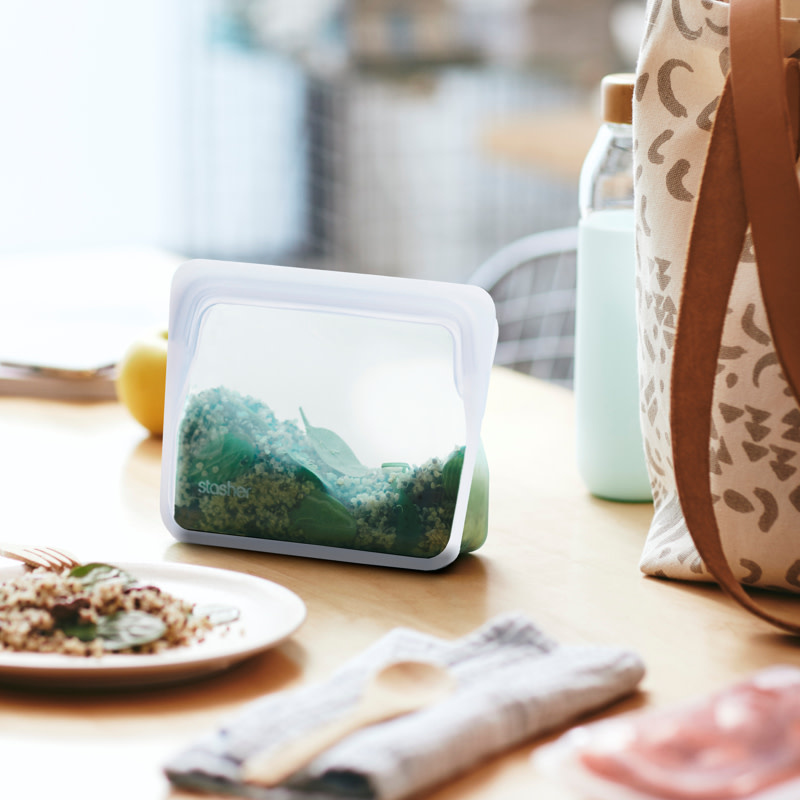 Mini Stand Up Storage Bag - Clear - Reusable
