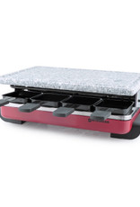 Classic 8 Person Raclette w/Granite Grill - Red