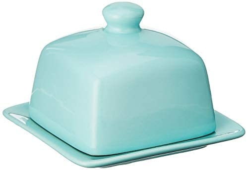 Now Designs Square Covered Butter Dish - Eggshell