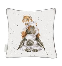 Wrendale Designs 'Piggy in the Middle' Decorative Cushion