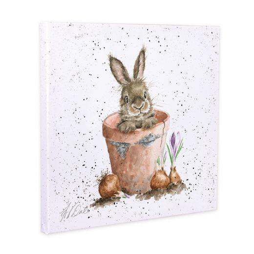 Wrendale Designs 'The Flower Pot' Canvas