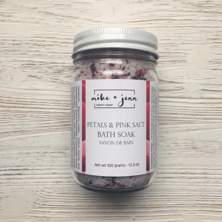 M&J Craft Soap Petals & Pink Salt Bath Soak