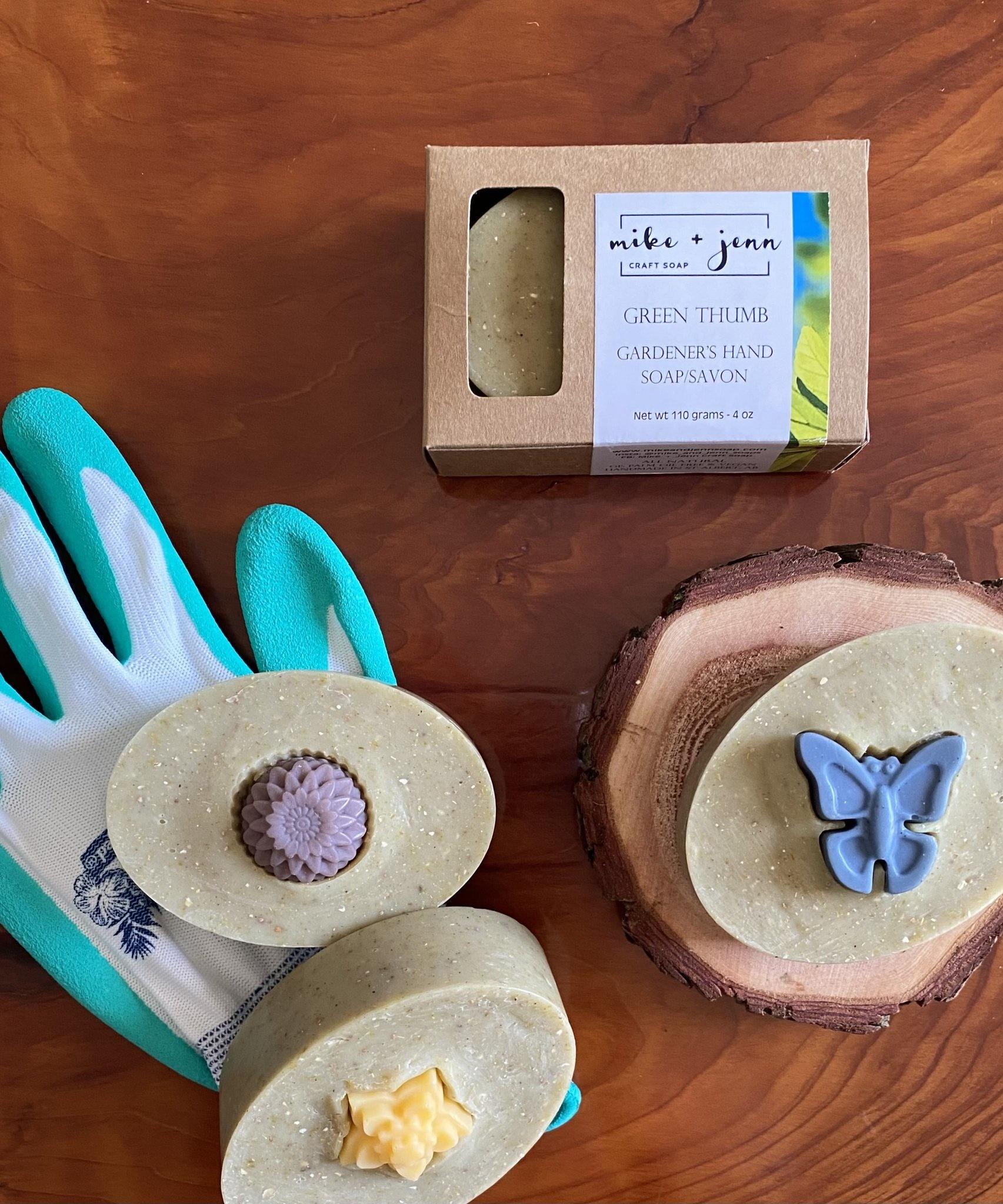 M&J Craft Soap Green Thumb Gardener's Hand  Soap