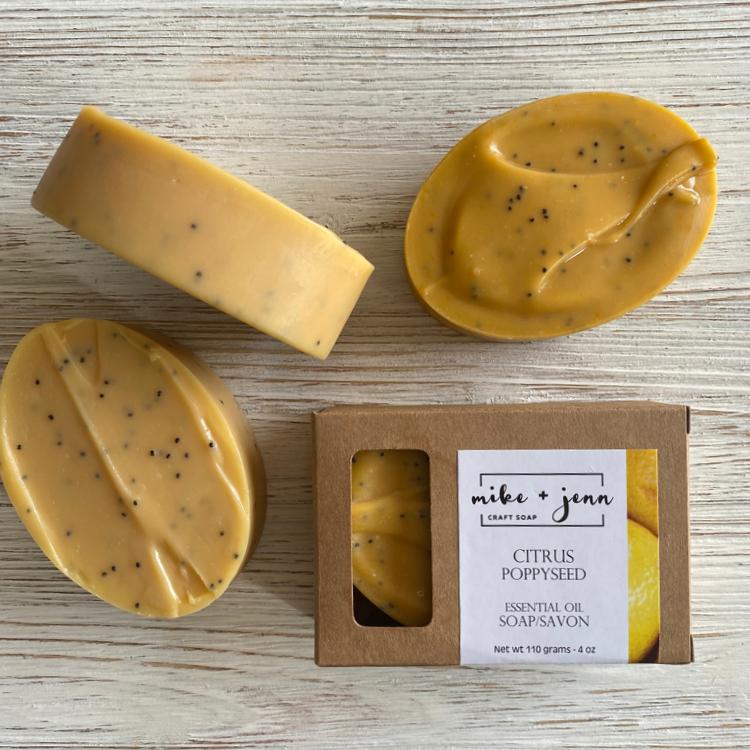 M&J Craft Soap Citrus Poppy Seed Soap