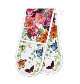 Sweet Floral Melody Double Oven Mitt
