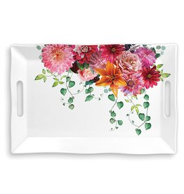 Sweet Floral Melody Large Melamine Serveware Tray