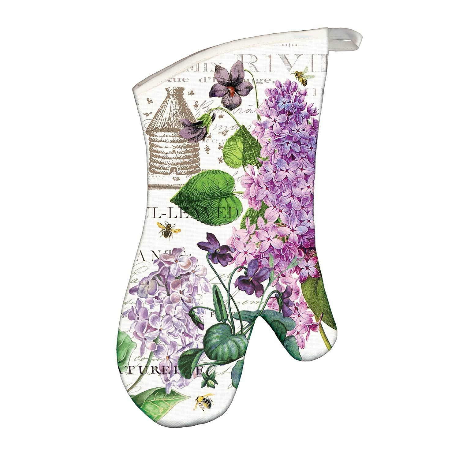 Lilac & Violets Oven Mitts